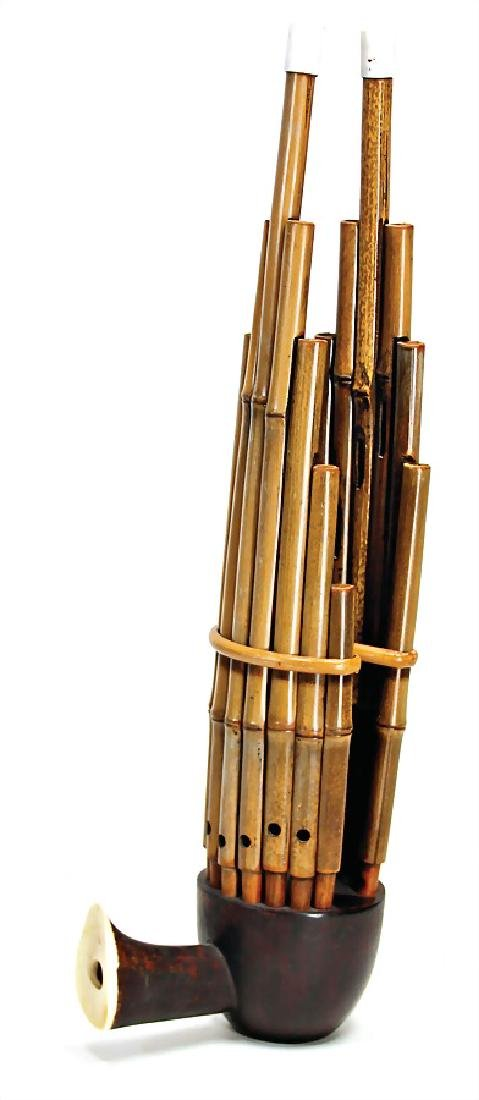 mouth organ, from Japan, Shó, bamboo and  wood, 48 cm