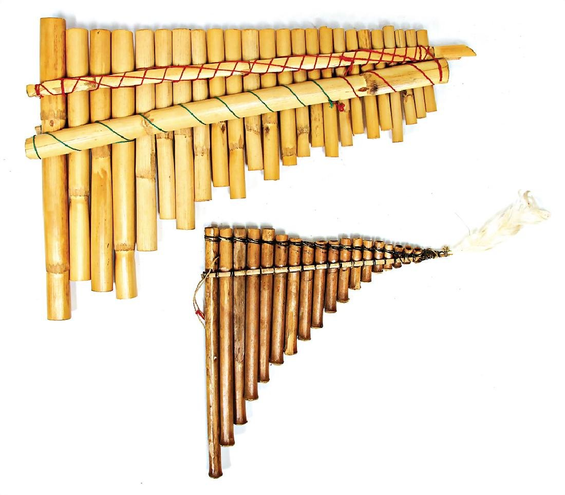 panpipes, Peru (Antara), Chipibo, with 18 bamboo canes,