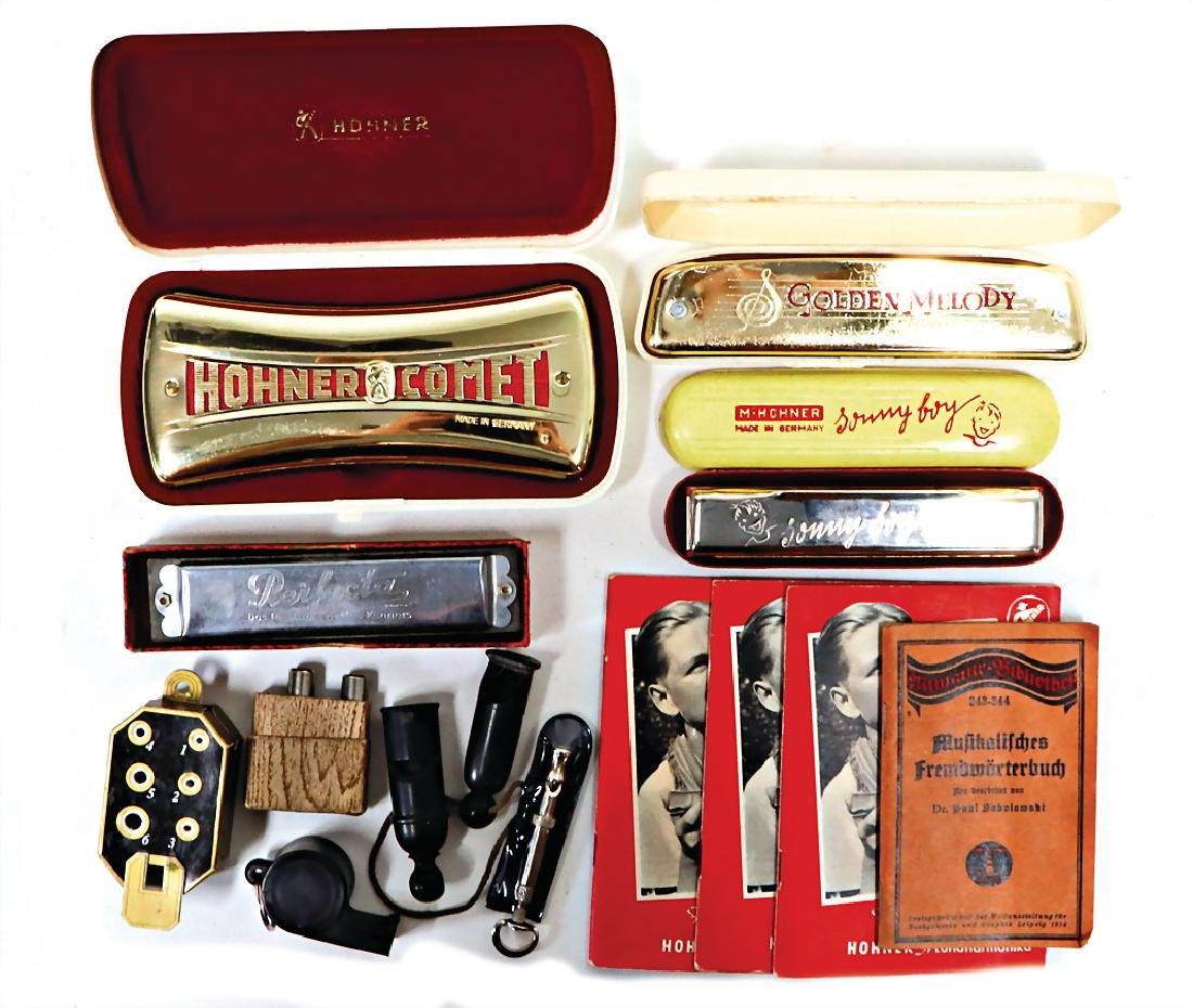 HOHNER mixed lot mouthorgan, Comet, c. 1950, original