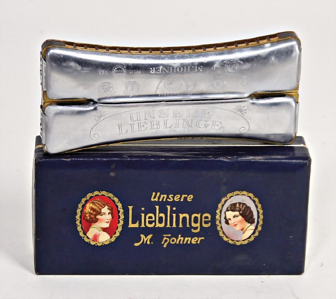 HOHNER mouthorgan, Unsere Lieblinge (twice), 15 cm,