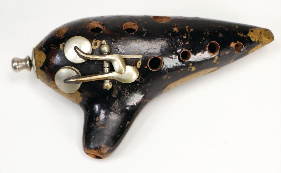 ocarina, with 2 nickel silver keys and  tuning slide