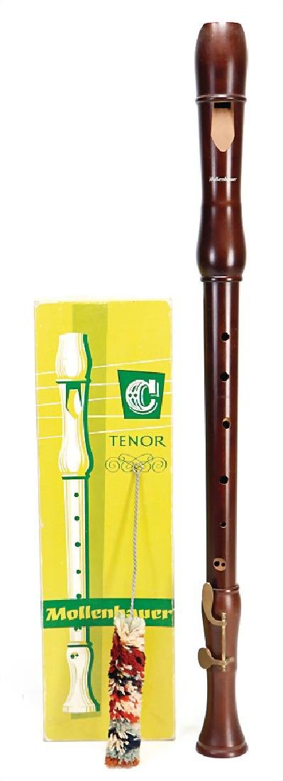 MOLLENHAUER in FULDA tenor recorder, made of pear tree,