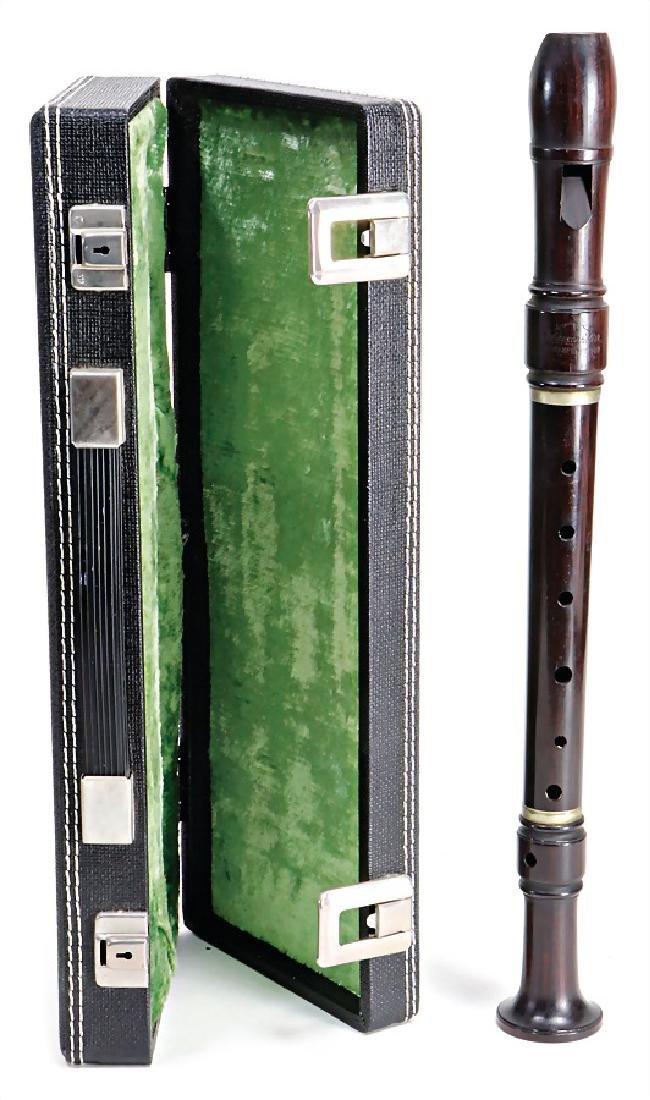 JOHANNES ADLER alto recorder, 3-part, grenadilla, 2