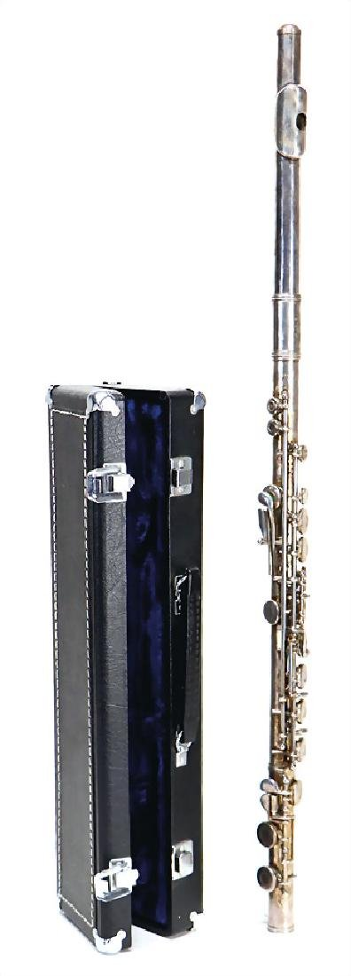 transverse flute, silver-plated, system Boehm,