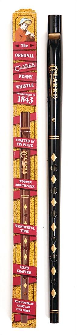 tin whistle, wood, 6 front pitch holes, as good as new,