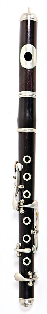 unsigned, piccolo, made of ebony, 6 nickel silver keys,