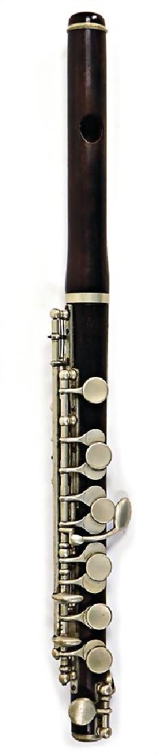 GUSTAV RUDOLF UEBEL piccolo, made of grenadilla, Boehm