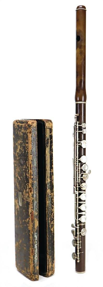 MARIUS HENRY COLONIEU, LONDON transverse flute, made of