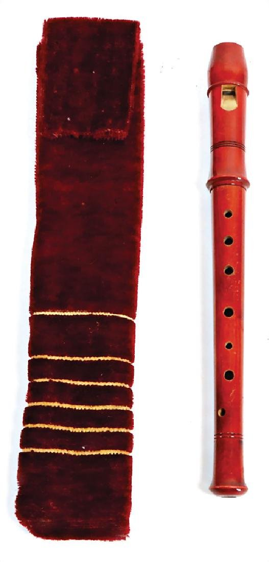 recorder, signed on the  head joint: Herwiga-Chor,