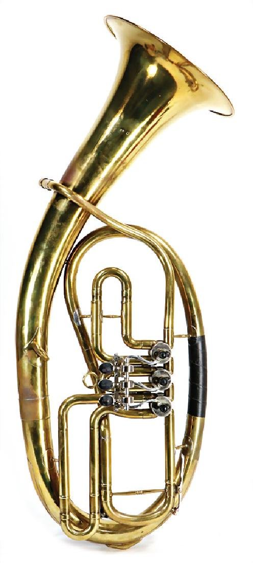 tenor bugle, brass, not marked, without mouthpiece, 78