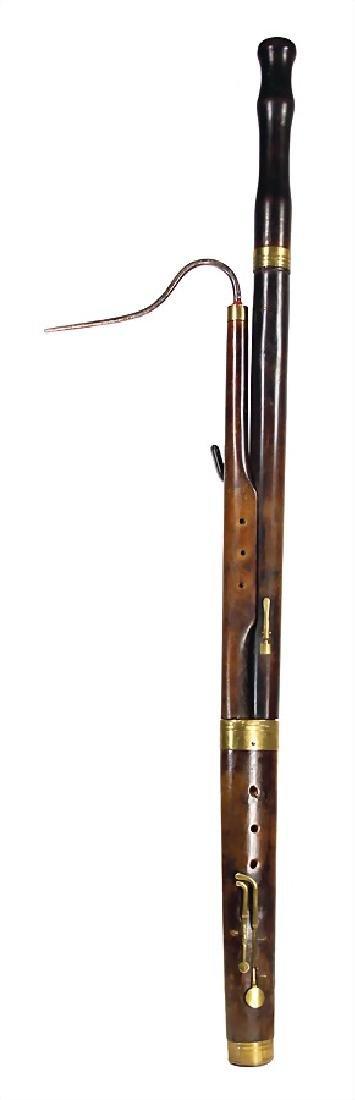 FRANZ PETER THUMHART bassoon, Straubing, 5 brass keys,