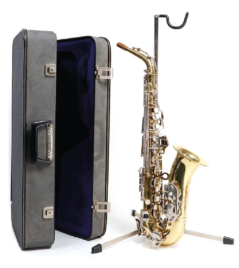 alto saxophone, signature Voss Noman Grassing, serial