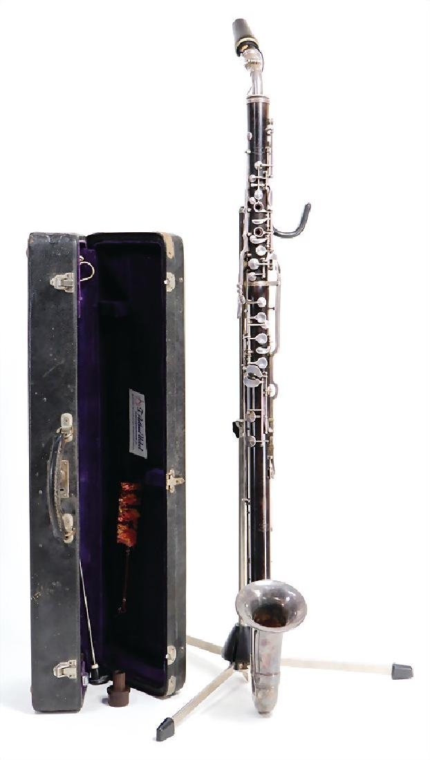 F. ARTHUR UEBEL basset horn in F, serial number 9573,