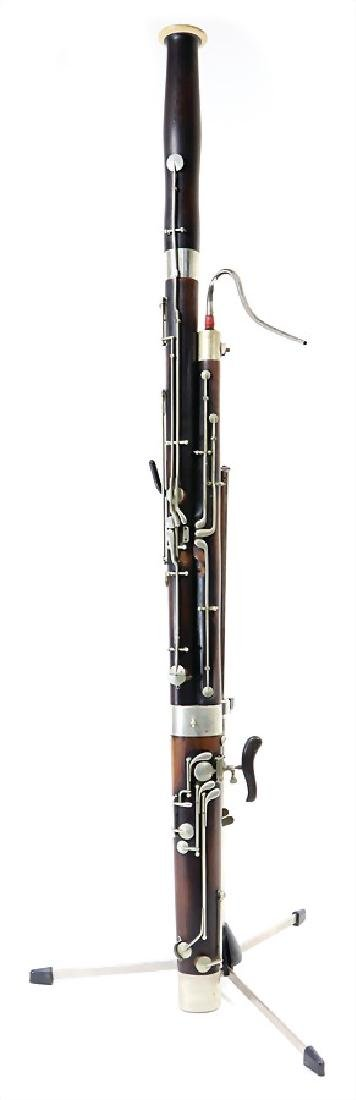 bassoon, unsigned, 132.5 cm, with suitcase, serial