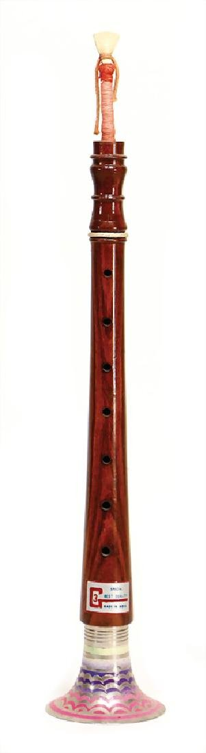 unsigned, Afghan Toota, wood:, with metal bell, 7 pitch