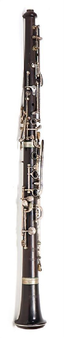 WILHELM HECKEL oboe, made of ebony or grenadilla,