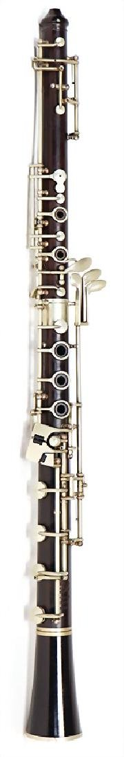 RUDOLF UEBEL oboe, made of grenadilla, Uebel system,