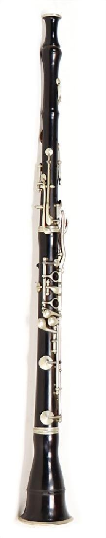 unsigned, oboe, made of grenadilla, black, German