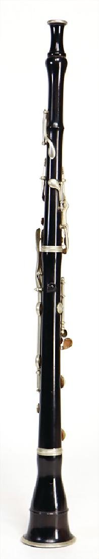 unsigned, oboe, made of grenadilla, black, German - 2