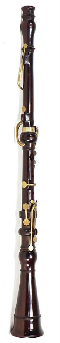 unsigned, oboe, classic type, rosewood, painted, brass