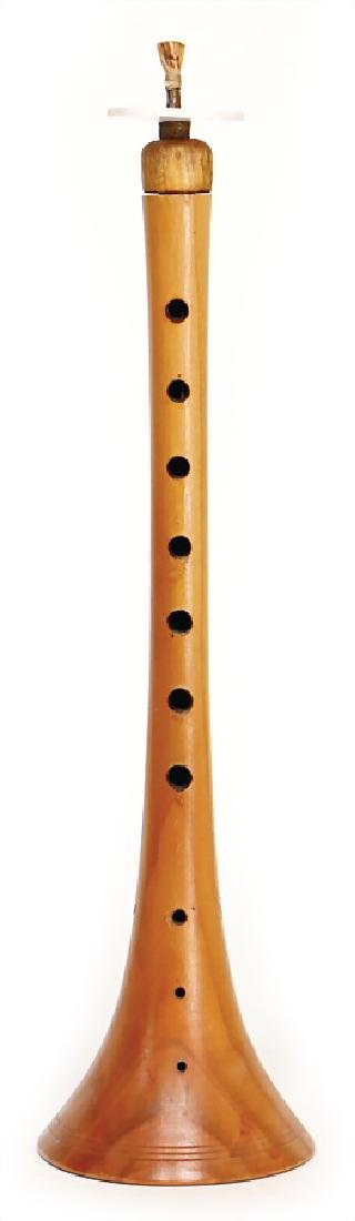 unsigned, Zurna, Turkey, made of olive wood, 37.5 cm, 7