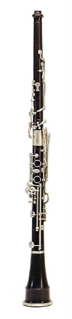 unsigned, place is unknown, oboe made of ebony or