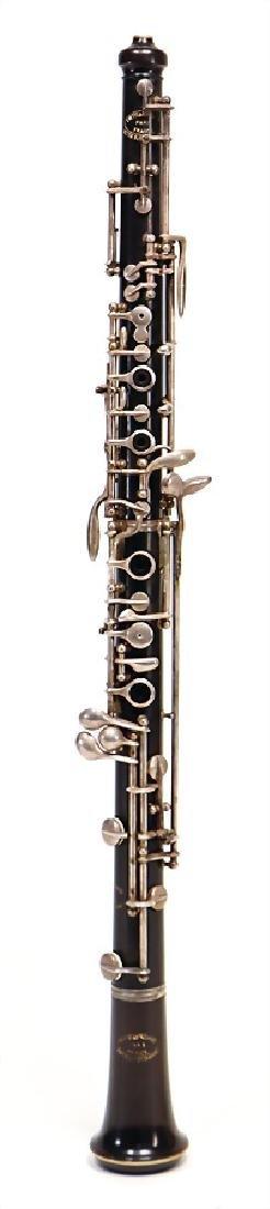 EVETTE & SCHAEFFER, PARIS oboe, made of ebony or