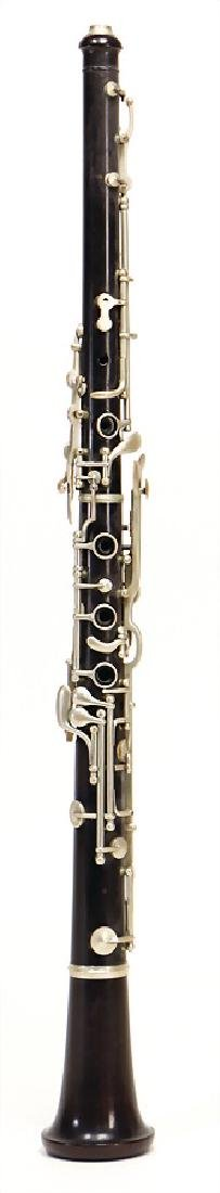 unsigned, place unknown, oboe, made of ebony or