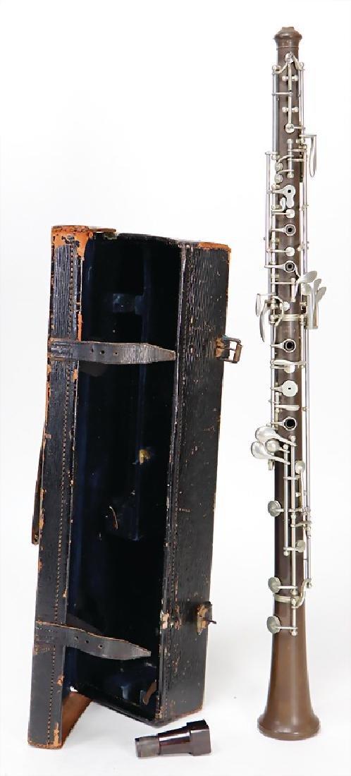 BOOSEY & CO, LONDON oboe, made of plastic, vulcanite,