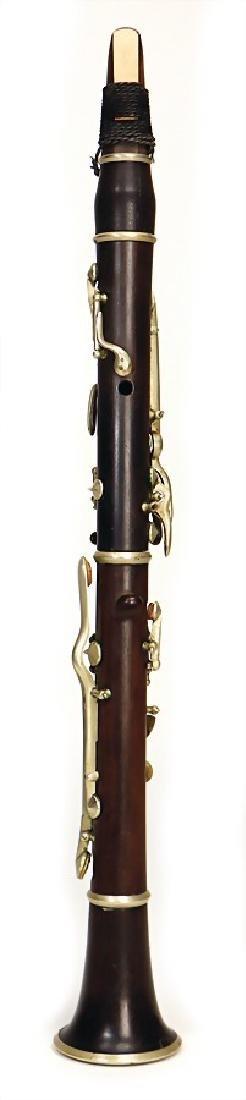 unsigned, clarinet in d, made of grenadilla, 14 keys,