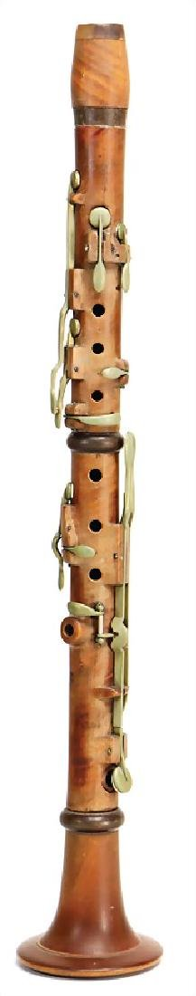 TOMSCHIK Brno, clarinet in b, made of boxwood, 12 brass