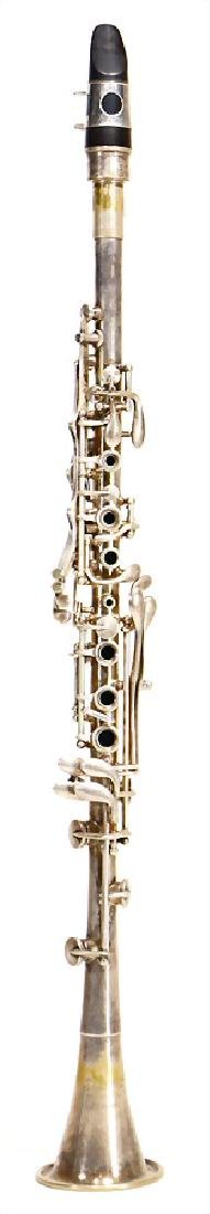 ELKHART PEDLER metall clarinet in b, silver-plated,