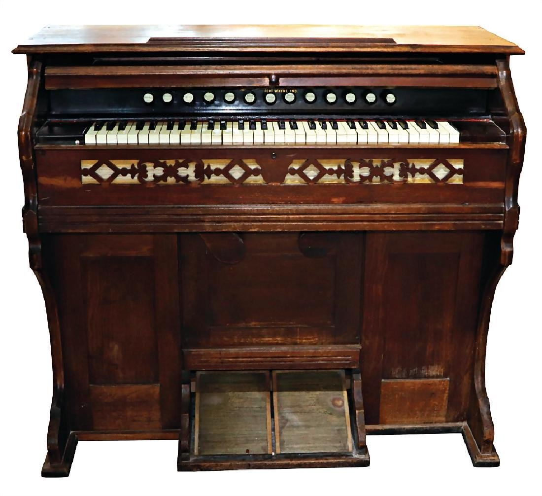 pump organ, TACKAR, IND., with 13 stop levers, width: