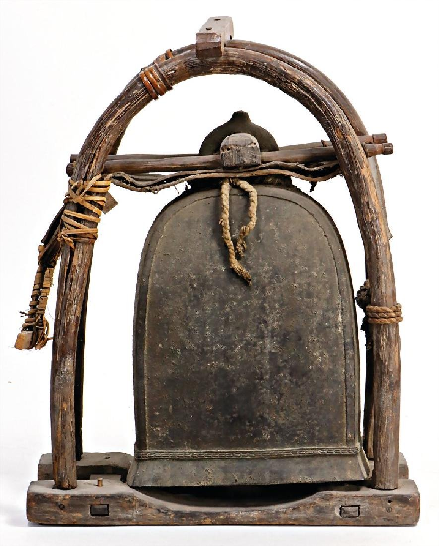 bell in a frame hanged with leather strap, 45 cm, #252#
