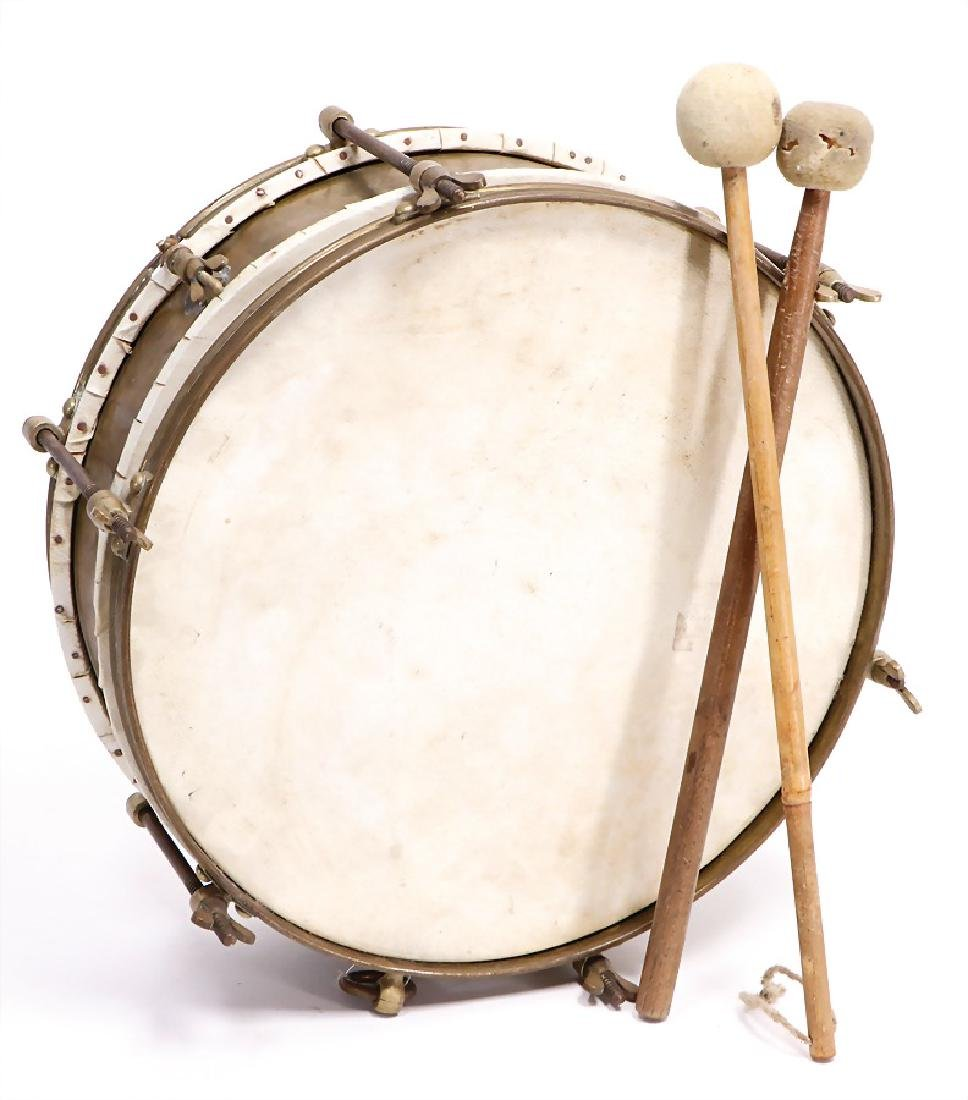 small drum (military drum), 2 skins, 6 screws, shroud