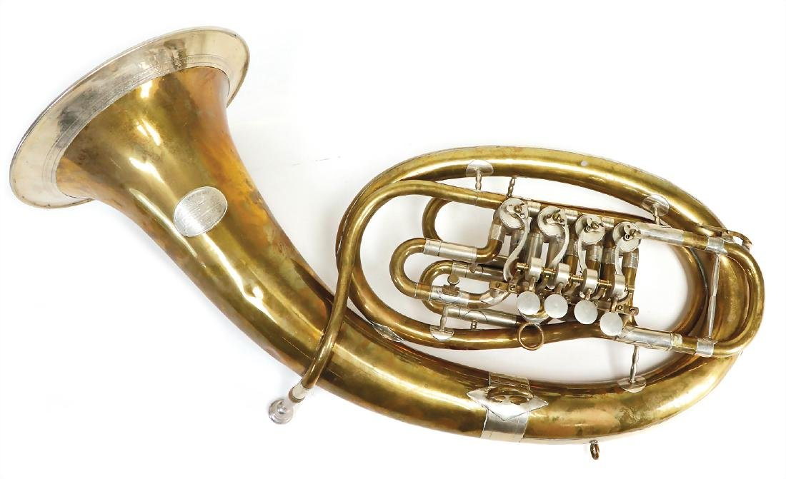 tenor-horn, with 4 Drehventilen, signature .(with