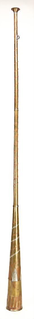 Berber trumpet, Morocco, brass decorated with copper