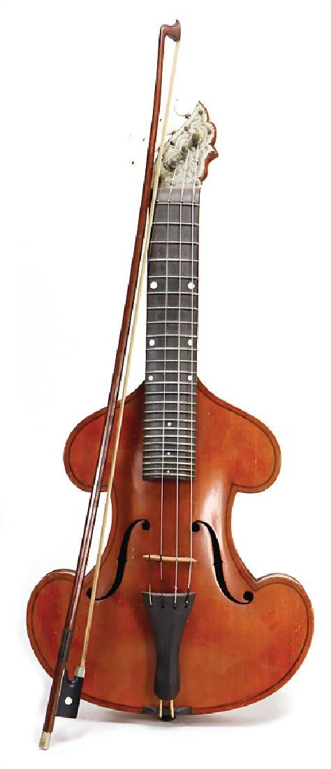 bowed zither with bow, bowed melodion, Lautenviole, 4
