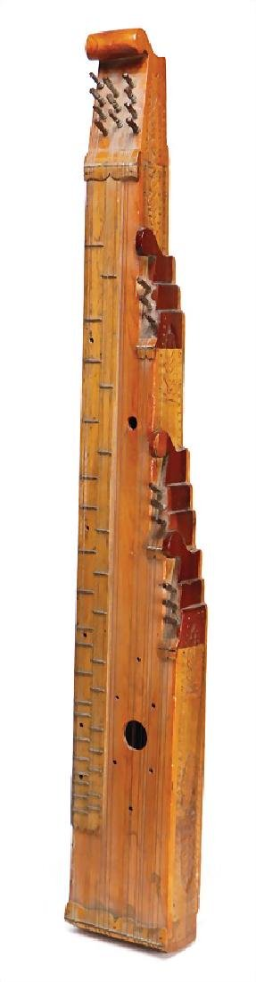 zither, Hungary or Bavaria, wood with carvings, 20