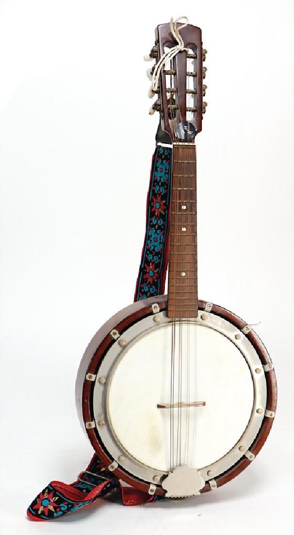 mandolin banjo, 8 strings, wood, 61 cm, condition 2-3