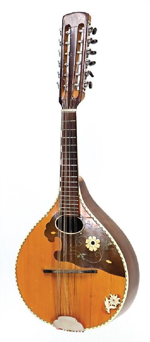 flat-backed mandolin, 12-string, 68 cm, condition 3