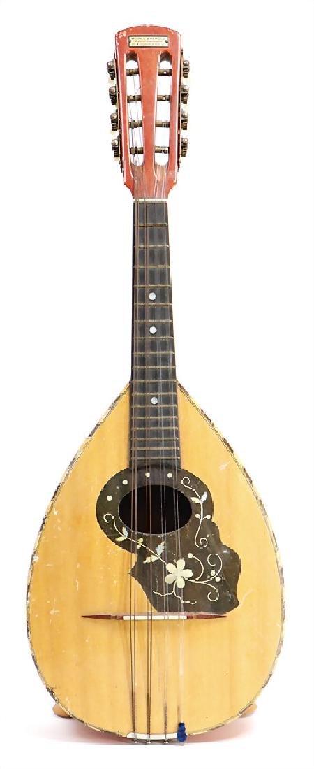 flat-backed mandolin, Portuguese model, tuning like a