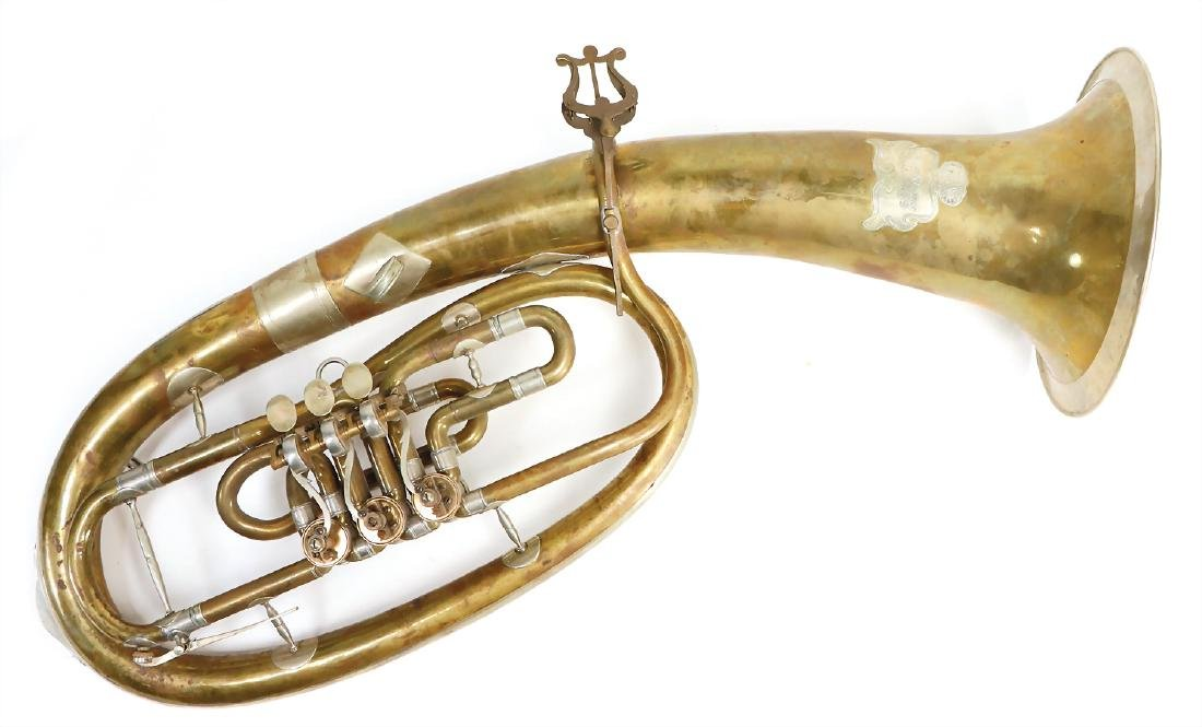 tenor-horn in b, with soldered onto sign, Karl Deimer