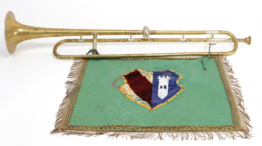 fanfare, unsigned, with cloth embroidered with