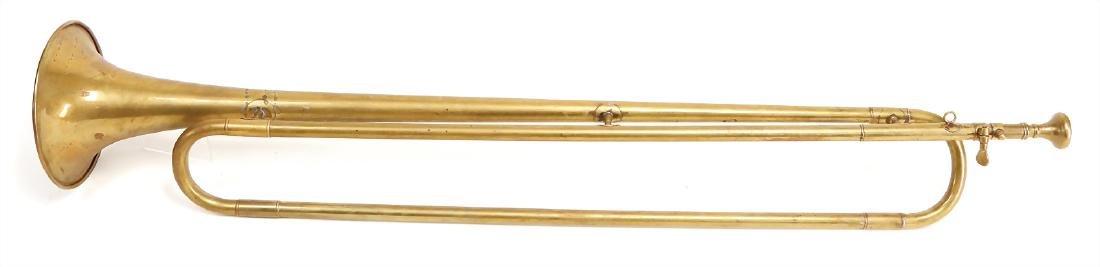 natural trumpet, fanfare, brass, 75 cm, brass is a bit