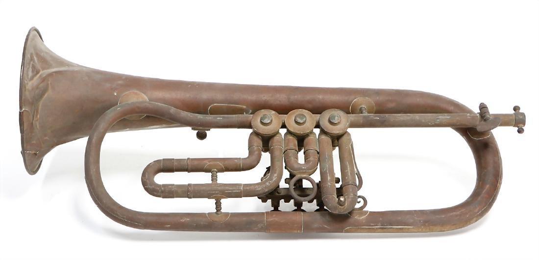 flugelhorn, signed Mayer Landau, with 3 rotary valves