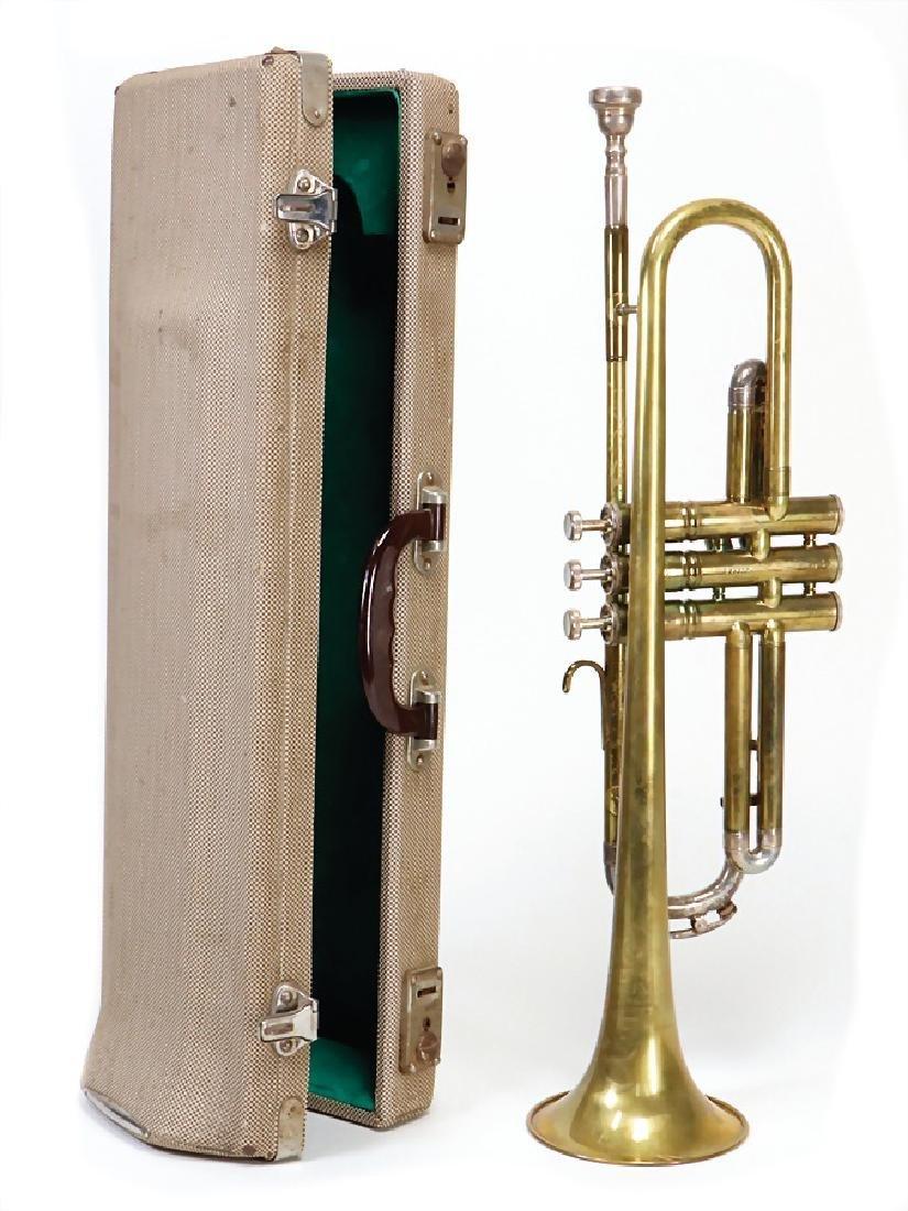 trumpet, signed: Musikhaus Hochstein Heidelberg,