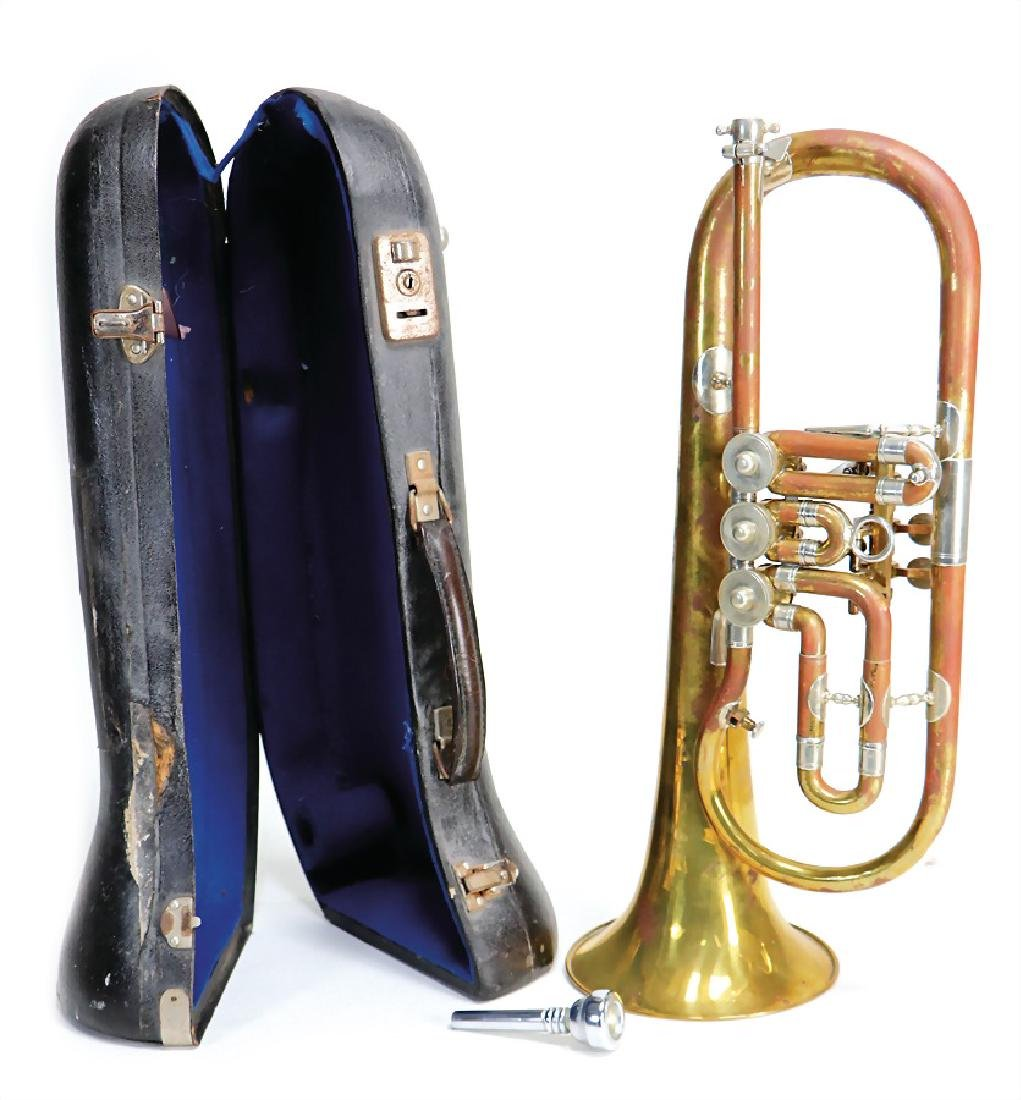 flugelhorn in B, with tuning slide and  mouthpiece (BF.