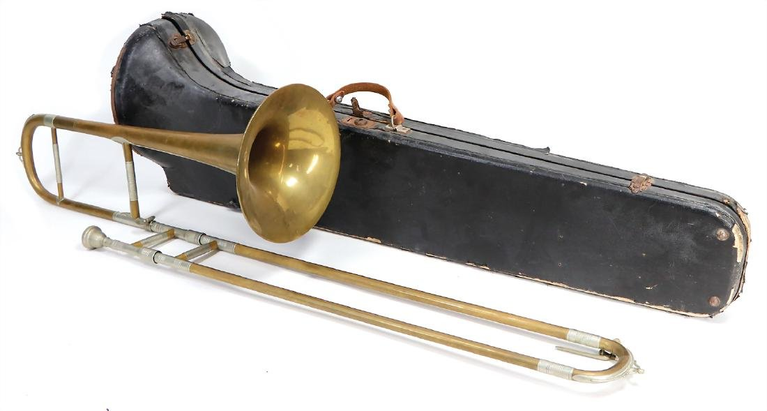 slide trombone in b, signature: Miraphone Fr. Spengler,