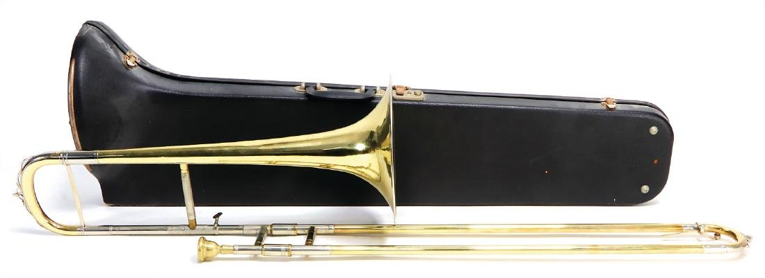 slide trombone in B, brass, signature KARL DEIMER